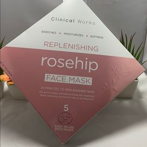 Clinical Works Hyaluronic Acid & Rose hip Mask Set